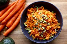 Curried Carrot Salad - The perfect potluck dish! Need some meal inspiration for what to take to your next potluck dinner? Carrot Salad Recipes, Salad Recipes Video, Veggie Dishes, Vegetable Recipes, Vegetarian Recipes, Indian Food Recipes, Whole Food Recipes, Ethnic Recipes, Curry