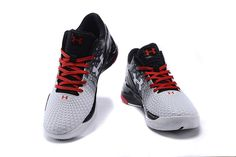 56468f63d626 Men s Under Armour UA Stephen Curry Two Low Basketball Shoes White Black Red  Curry