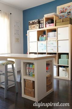 Such a pretty craft room!