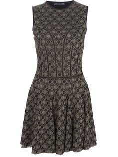 ALEXANDER MCQUEEN - honeycomb sleeveless dress 6