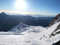 Way up to the top of the Huayna Potosí by worldtripblog, via Flickr