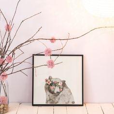 Affiche ours aux joues roses