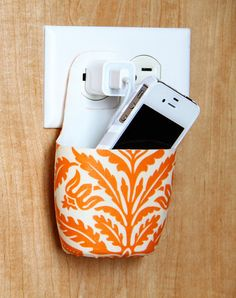 This holder for your cell phone was made from an empty lotion bottle!