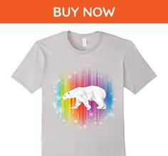 Mens Mama Papa Polygonal Polar Bear gay pride lesbian lgbt Small Silver - Relatives and family shirts (*Amazon Partner-Link)