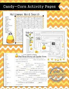 Printable Halloween Games for Kids {Candy Corn Theme}