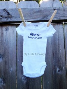 Baby all in one shirt bodysuit custom personalized baby gift i personalized baby onesie bodysuit custom personalized baby gift via etsy negle Images