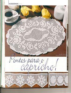 Crochet Tablecloth, Crochet Doilies, Filet Crochet, Home Decor, Towels, Centerpieces, Pattern, Decoration Home, Room Decor