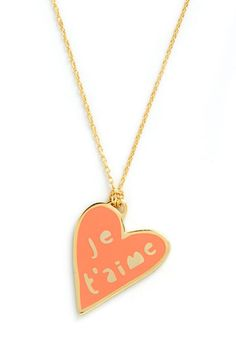 Corked Necklace in Heart, #ModCloth says I Love You in French!