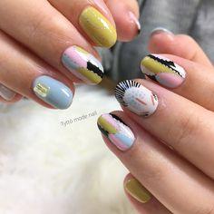 Asian Nail Art, Asian Nails, Crazy Nail Art, Crazy Nails, Art Deco Nails, Queen Nails, Nail Techniques, Diy Nail Designs, Nail Games