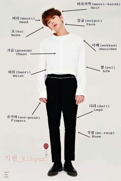 body parts! many thanks to our model, monsta x's kihyun ♡