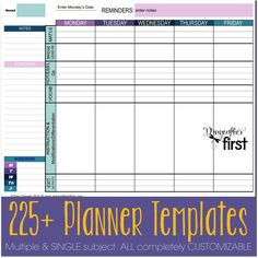 Printable Daily Planner Template Printable Daily Calendar Forms