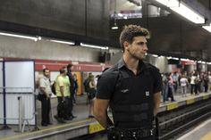 O segurança do metrô e ex-modelo Guilherme Leão