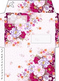 Envelope Template Printable, Paper Templates, Card Envelopes, Journal Cards, Origami, Diy And Crafts, Stamps, Stationery, Packaging