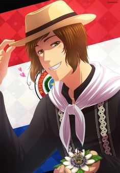 Hetalia Paraguay Latin Hetalia, Anime, Funny Pictures, Happy Birthday, Drawings, Fictional Characters, Latin America, Posters, Country