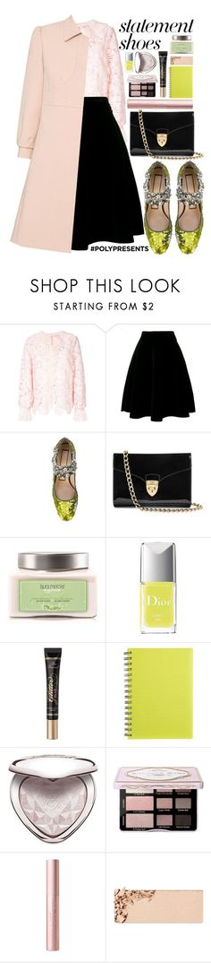 """""""#PolyPresents: Statement Shoes"""" by alaria ❤ liked on Polyvore featuring N°21, Aspinal of London, Laura Mercier, Christian Dior, Too Faced Cosmetics, Kandee, RED Valentino, contestentry and polyPresents"""