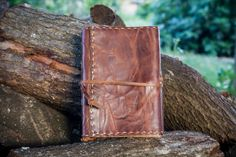 Medieval Leather Journal, Vintage Stressed Brown Leather, Aged Paper by ExSapientia on Etsy