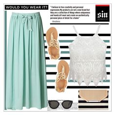"""Iwearsin.com"" by aida-nurkovic ❤ liked on Polyvore featuring mode, Stella & Dot, Ancient Greek Sandals, CÉLINE en iWearSin"