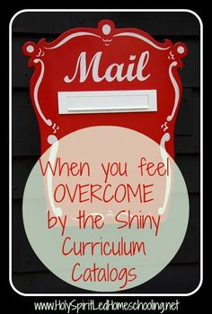 What do when you feel overwhelmed by curriculum choices