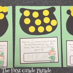 Pot of Gold Addition Word Problem for St. Patrick\'s Day