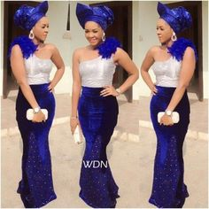 Latest Aso Ebi Styles: Ladies Rock Blue Aso Ebi Lace Styles | Maboplus http://maboplus.com/latest-aso-ebi-styles-ladies-rock-blue-aso-ebi-lace-styles/