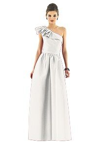 Alfred Sung Style D549 White Ivory Bridesmaid Dress