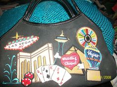 Vintage Las Vegas  Handbag purse 1980s by ModernMaddness on Etsy, $15.00