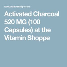 activated charcoal 520 mg 100 capsules at the vitamin shoppe - 236×236