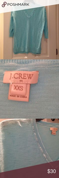 J crew baby blue lightweight sweater Xxs fits like a M J. Crew Sweaters V-Necks