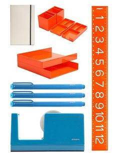 Orange You Glad Desk Set. Perfect for organizing in style!