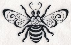 Machine Embroidery Designs at Embroidery Library! – Machine Embroidery Designs at Embroidery Library! Local Embroidery, Types Of Embroidery, Learn Embroidery, Machine Embroidery Patterns, Hand Embroidery, Embroidery Stitches, Needlepoint Stitches, Embroidery Ideas, Bee Art
