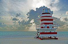 Lifeguard Stand South Point, South Beach (Miami Beach, Florida)