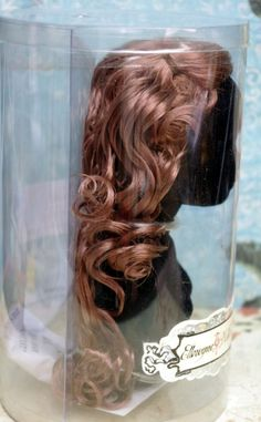 "Wilde Imagination Tonner Ellowyne**WaVe BYe** Wig and wig form/bust. New, never removed from package with shipper box. A beautiful light to medium auburn brown wig awaits your Tonner Ellowyne, Amber, Lizette, or Prudence 16"" doll. This has the right amount of long, luscious curls. It's very nice, your Ello will love it! New, soldout at Wilde, and at my Ebay now on auction. Click on the picture to take you there."