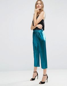 Metallic Culotte Pants