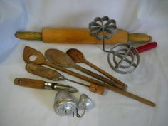 Collecton of vintage and Antique Kitchen Utensils   by BarbsNook, $17.00