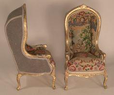 Pair of  Hooded Chairs by Lilli Ann Hamilton