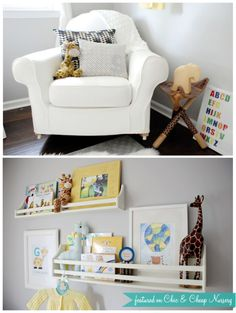 Gray and Yellow Gender Neutral Nursery {Real Nursery Pictures} | Chic & Cheap Nursery™