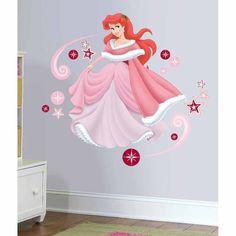Disney Princess - Ariel Holiday Add On Wall Decal Princesa Ariel Da Disney, Disney Princess Ariel, Cute Princess, Wall Mural Decals, Nursery Wall Decals, Murals, Princess Nursery, Princess Room, Do It Yourself Design