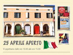 25 Aprile APERTO: Vi aspettiamo dalle ore 10.00 alle ore 15.00 !!!