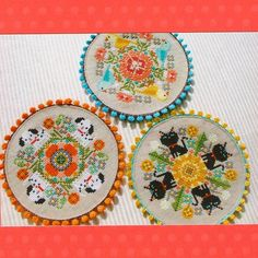 The talented Kyoko Maruoka is the mind behind the Gera! line of cross-stitch and needlework designs. Love everything she does!