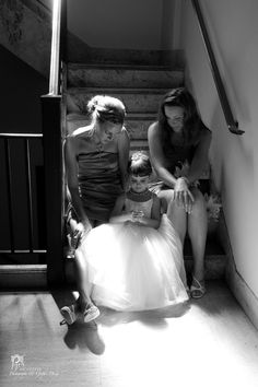 I loved capturing this moment just before the wedding ceremony with the bridesmaids and a flowergirl. Photo credit http://www.pixelsonpaper.biz