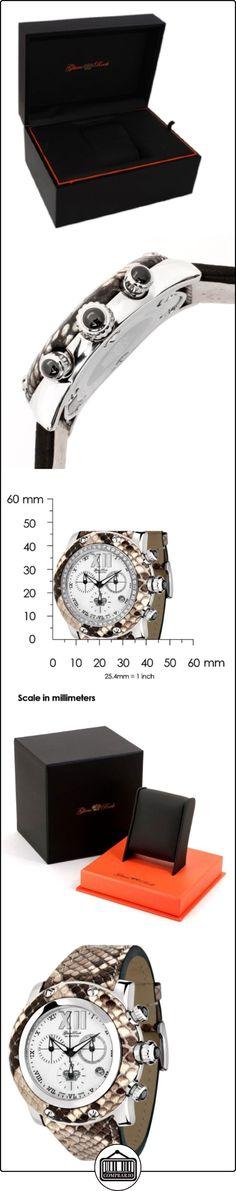 Glam Rock 0.96.2489 - Reloj analógico de cuarzo unisex, correa de cuero multicolor  ✿ Relojes para hombre - (Lujo) ✿