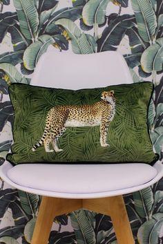 Riva Home Velvet Cheetah Cushion