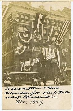 1907. Lowenstein's decorated for the 'Deep Water Convention' ... Collection George Whitworth