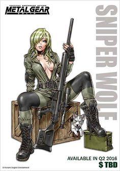 Metal Gear - Sniper Wolf by Shunya Yamashita