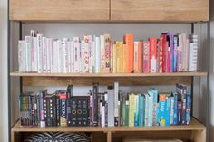 Our bookshelves are a bit of a conversation starter; both online and in real-life. The colour-coded organisation gives some people a case of the heart eye emojis and others some serious Monica Gell…