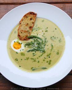 Homemade cream of asparagus soup – Laylita's Recipes Best Cream Of Asparagus Soup Recipe, Creamed Asparagus, Grilled Asparagus Recipes, Baked Asparagus, Fresh Asparagus, Lunch Recipes, Soup Recipes, Cooking Recipes, Healthy Recipes