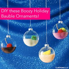 What's sparkly, festive, and a little boozy? These fabulous ornaments! Learn how to DIY these babies on ClintonKelly.com.