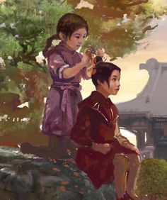 Ty Lee & Azula - wow I love this, and they look considerably more Asian than they did in the series, here.