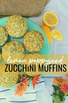 Don't pawn your extra zucchini off on unsuspecting strangers--make lemon poppyseed zucchini muffins instead! Delicious as an afterschool snack, in school lunches, or with coffee. Best Dessert Recipes, Fruit Recipes, Veggie Recipes, Delicious Desserts, Snack Recipes, Veggie Food, Appetizer Recipes, Easy Recipes, Lemon Zucchini