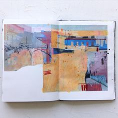 Jean Davey Winter Might be some potential starting points for paintings - quite like the slightly odd colour combinations. by Jean Davey Winter Kunstjournal Inspiration, Sketchbook Inspiration, Art And Illustration, Mises En Page Design Graphique, Drawn Art, Artist Sketchbook, Sketchbook Drawings, Guache, Watercolor Artwork